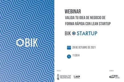 Webinar BIK: Valida tu negocio de forma rápida con Lean Startup