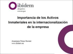 Importancia de los Activos Inmateriales en la internacionalización de la empresa