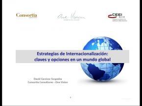 Estrategias de internacionalización. Claves y opciones en un mundo global.