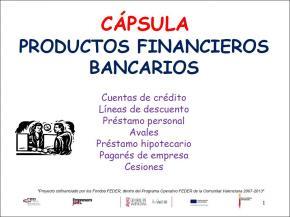 Productos financieros bancarios
