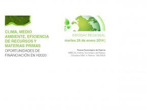 Clima, medio ambiente, eficiencia de recursos y materias primas