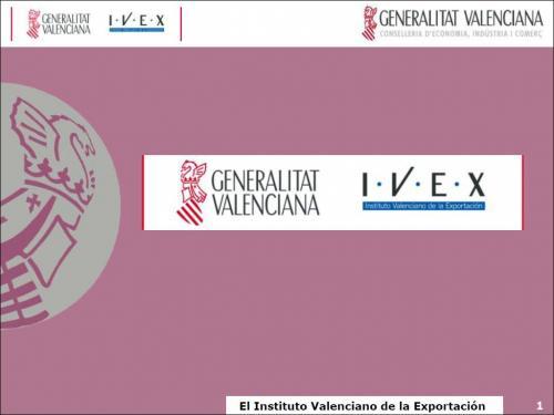 Apoyos del IVEX a la internacionalización de la empresa en la Comunidad Valenciana. Servicio FDA /