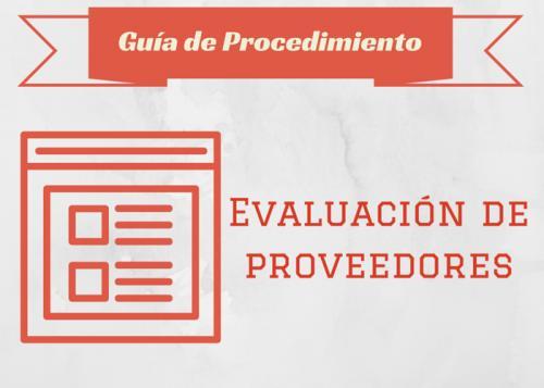 Guia Proc. Avaluació de proveïdors #
