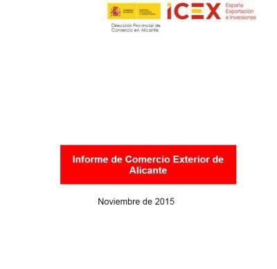 Informe de comercio exterior de Alicante por ICEX