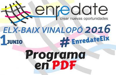 Programa Enrédate Elx-Baix Vinalopó 2016