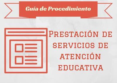 portada guia prestación de servicios de atencion educativa