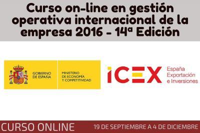 Curso on-line en gesti�n operativa internacional de la empresa 2016 - 14� Edici�n