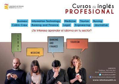 El curso de Ingl�s Profesional se impartir� en el campus de Elche y se distribuir�n en dos sesiones semanales de dos horas cada una