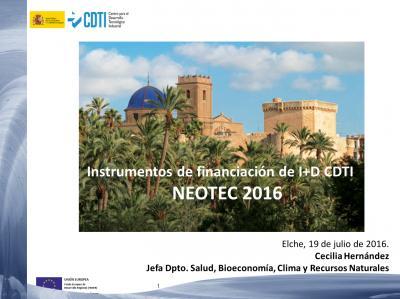 Instrumentos de financiaci�n de I+D CDTI NEOTEC 2016