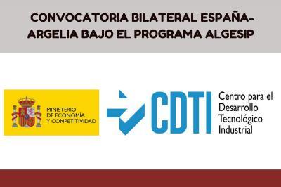 Convocatoria Bilateral España-Argelia bajo el programa ALGESIP