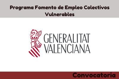 Programa Fomento de Empleo Colectivos Vulnerables
