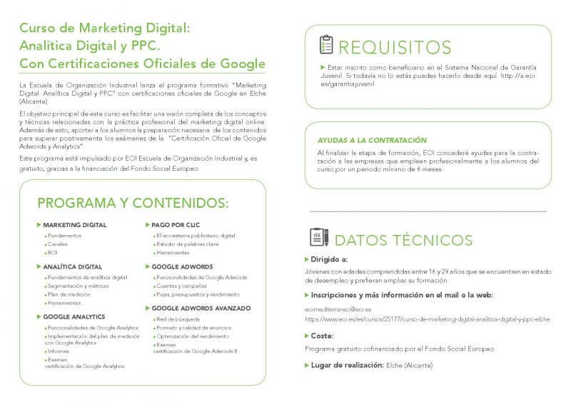 Curso Marketing Digital Elche