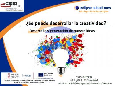 ¿Se puede desarrollar la creatividad?