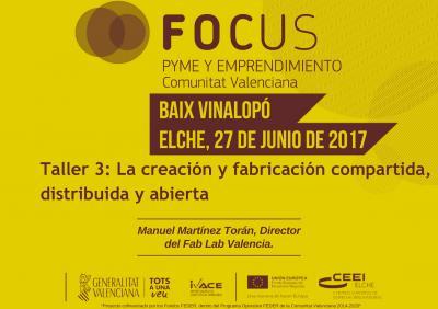 La creación y fabricación compartida, distribuida y abierta. Manuel Martínez