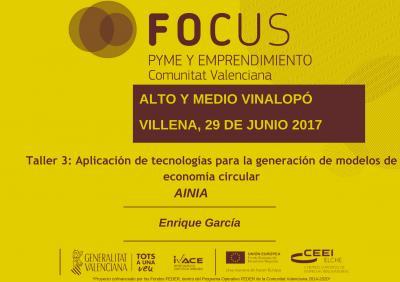 Aplicación de tecnologías para la generación de modelos de economía circular. AINIA