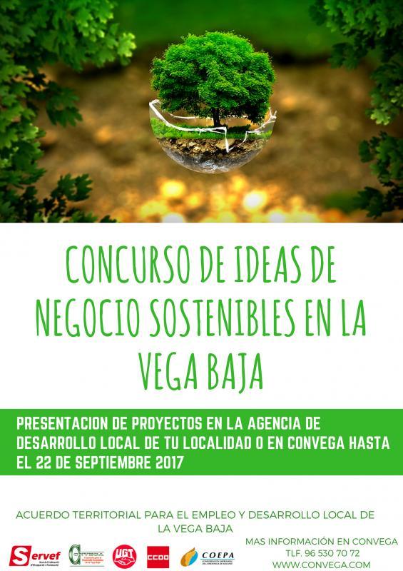CONCURSO DE IDEAS DE NEGOCIO SOSTENIBLES EN LA VEGA BAJA