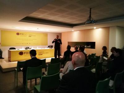 Antoni Flores en un momento de su conferencia