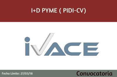 Ayudas I+D Pyme (PIDI -CV)