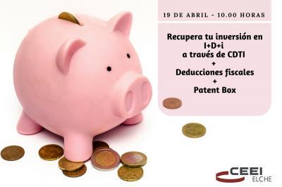 Recupera tu inversión en I+D+i a través de CDTI + Deducciones fiscales + Patent Box