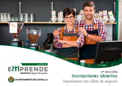 La oferta formativa de Castalla Emprende se compone de sesiones agrupadas en cuatro grandes bloques: modelos de negocio y estrategia, marketing y ventas, redes sociales y marketing online, y finanzas