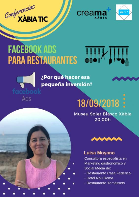 Facebook ads para restaurantes. XàbiaTIC