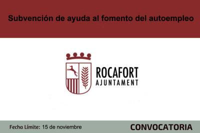 Subvención de ayudas autoempleo Rocafort