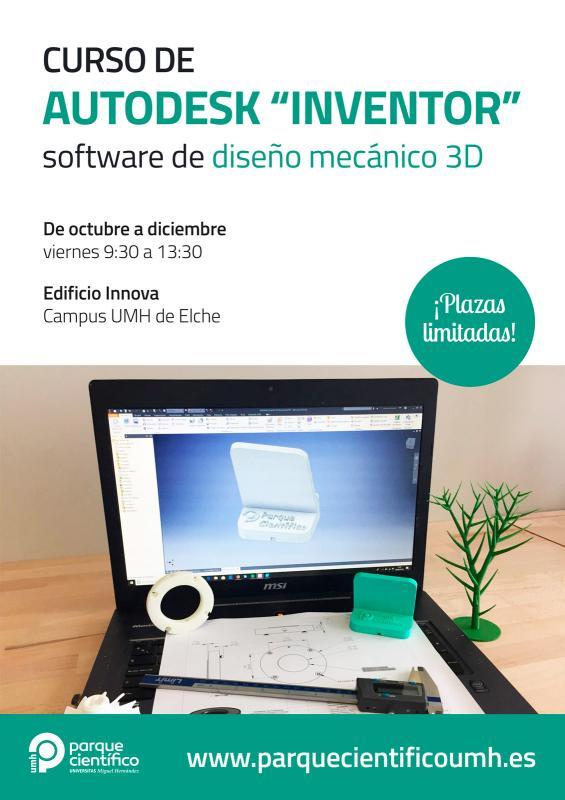 """Los inscritos únicamente deberán traer un ordenador portátil con el programa """"Autodesk Inventor"""" instalado correctamente."""