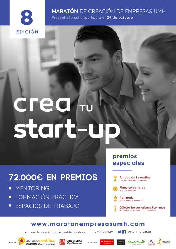 Desde el lanzamiento en 2012 de sus programas de apoyo al emprendimiento, el PCUMH ha asesorado a cerca de 1.200 emprendedores