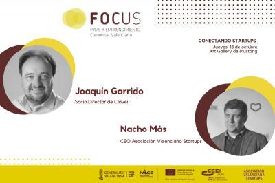 Joaquín Garrido y Nacho Más cerrarán las sesiones de Focus Pyme Startups