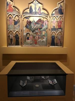 Vitrina expuesta en el Museo Nacional de Suecia