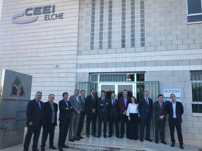 Comité de dirección Hidraqua junto al presidente y director de CEEI Elche