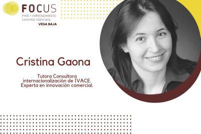 La experta en innovación comercial, Cristina Gaona, participará en Focus Pyme Vega Baja