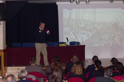 Conferencia navegante oceánico Alex Pella en Focus Pyme Marina Alta