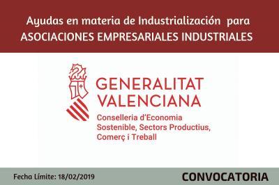 Ayudas en materia de Industrialización  para Asociaciones Empresariales industriales