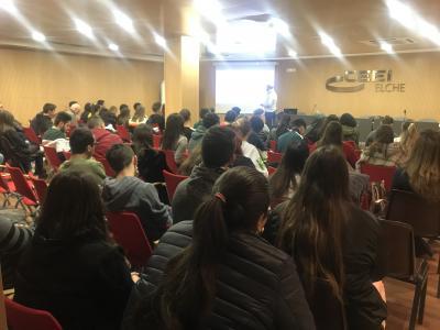 El Salón de actos del CEEI Elche acogía a los más de 80 asistentes