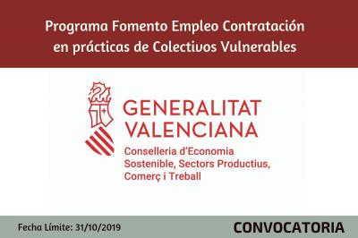 Programa Fomento de Empleo Conversión a Indefinido de contratos temporales de Colectivos V
