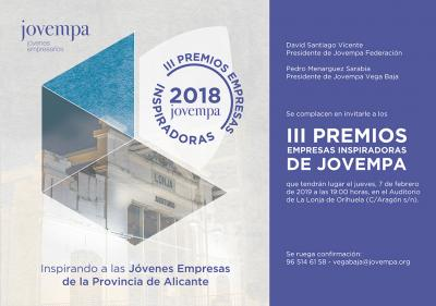 III Premios Empresas inspiradoras de Jovempa