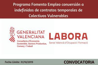 Fomento de Empleo Conversión a Indefinido de contratos temporales de Colectivos Vulnerable