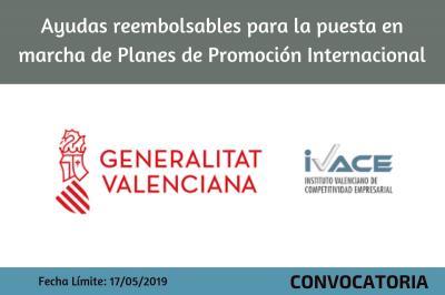 Ayudas reembolsables para la puesta en marcha de Planes de Promoción Internacional