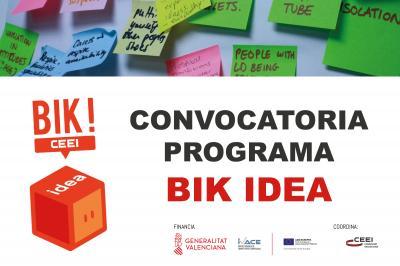 CONVOCATORIA PROGRAMA BIK IDEA CEEI Castellón
