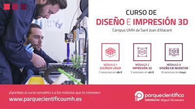 Dirigido a interesados en iniciarse en el diseño, escaneado e impresión 3D de modelos digitales para cualquier sector