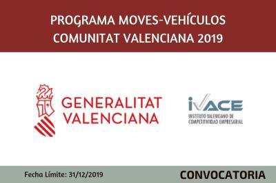Programa Moves-Vehículos Comunitat Valenciana 2019