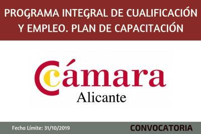 Programa Integral de Cualificación y Empleo. Plan de Capacitación.