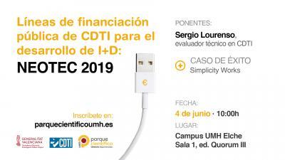 Líneas de financiación pública de CDTI: NEOTEC