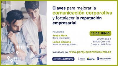 Jesús Mula, del diario Información y Lucas Serrano, de Verne Technology Group serán los ponentes