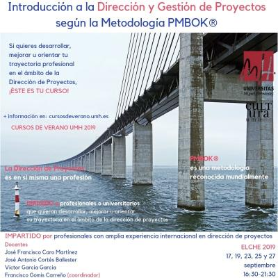 Introducción a la Dirección y Gestión de Proyectos según la Metodología PMBOK®