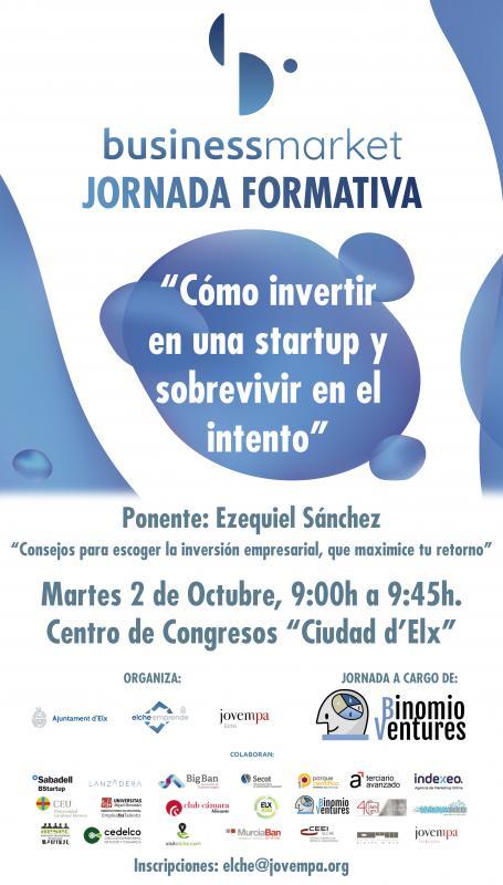 """Jornada formativa: """"Cómo invertir en una startup y sobrevivir en el intento"""""""