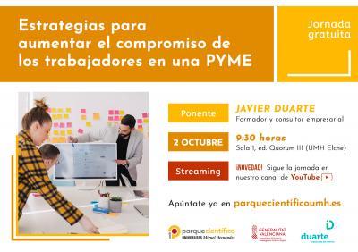 La jornada estará impartida por el consultor empresarial Javier Duarte.