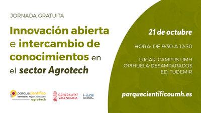 """La jornada concluirá con la ponencia """"Proyectos de éxito: investigación, universidad y empresas"""" del profesor del Área de Tecnología de los Alimentos de la UMH, José Ángel Pérez."""