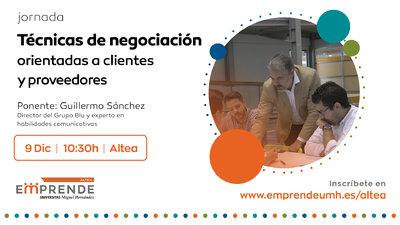 La sesión estará a cargo del socio director del grupo BLU y experto en habilidades comunicativas, Guillermo Sánchez
